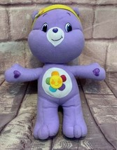 "Care Bear Harmony Purple With Flower on Belly By Nanco 14"" Plush - $12.34"