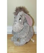 Winnie the Pooh Disney World plush Eeyore gray attaching tail purple bow... - $13.36