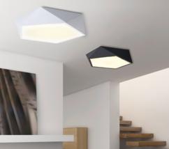 Modern Geometric Flushmount LED Light Ceiling Lamp Home Lighting Fixture New - $69.00