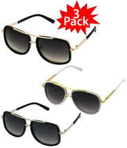 Mach One Style Celebrity Square Luxury Sunglasses 3 PACK #2 - $44.99
