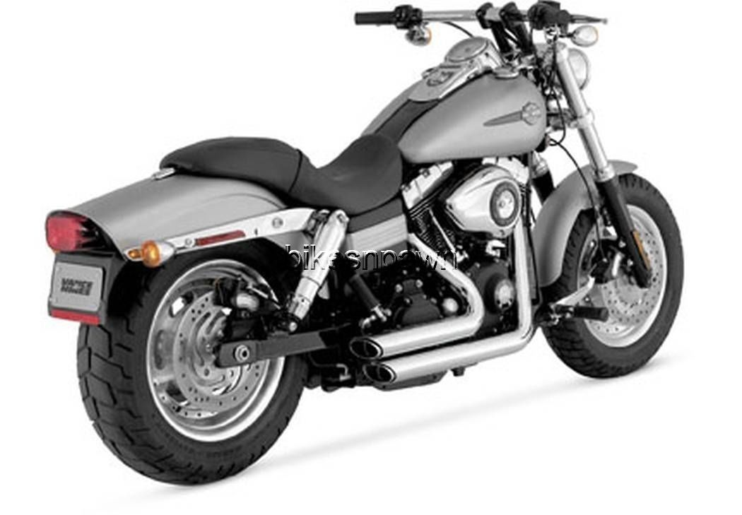 New Vance & Hines Shortshots Staggered Chrome 2006-2011 FXD Dyna Harley
