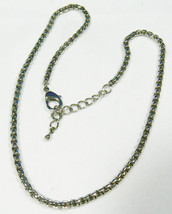 "High Quality Silver Tone Round link chain Necklace 18""L 4 mm wide - $35.64"