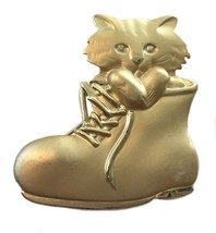 Vintage Cat Puss in Boots Brooch Pin AJC - $16.82