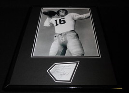 Frank Gifford Signed Framed 11x14 Photo Display USC Trojans Giants - $52.00