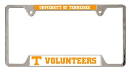 Tennessee Volunteers Heavy Duty Chrome Metal License Plate Frame - $13.95