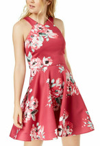 Sequin Hearts Juniors' Floral-Print Fit & Flare Dress, 5 - $19.79