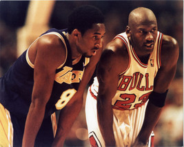 Michael Jordan Bulls Kobe Bryant Lakers SA Vintage 8x10  Color Basketbal... - $7.99