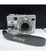 Sony digital camera vintage compact cyber shot Carl Zeiss 5.0 mp optical... - $37.62