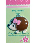 Hedgehog Needleminder cross stitch needle acces... - $7.00