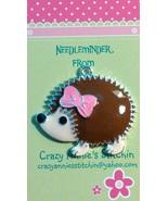 Hedgehog Needleminder cross stitch needle accessory - $7.00