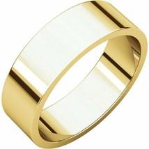 Fine 10k Yellow Gold 6 mm High Polished Flat Wedding Band Ring Size 3-16 - $152.46+