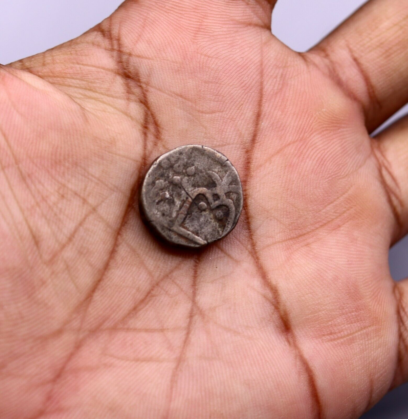 OLD SOLID SILVER COIN GINNY FROM INDIA RARE COIN FOR COLLECTION  INDIA cn13