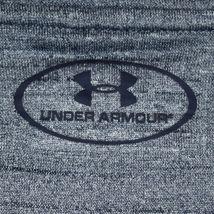 Under Armour Men's Heathered Blue Loose HeatGeart Long Sleeve Athletic Shirt M image 3