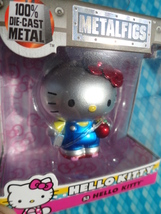 "JADA 2"" Metalfigs S3 HELLO KITTY SANRIO Silver Diecast Metal Blue Overal... - $12.99"