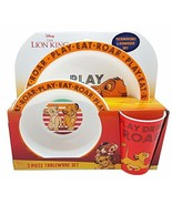 Lion King 3 Piece Pp Tableware Set #fge - £15.42 GBP