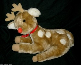 "14"" VINTAGE 1983 CHRISTMAS REINDEER ENESCO BROWN STUFFED ANIMAL PLUSH TO... - $32.73"