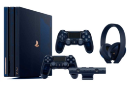 PlayStation 4 Pro 500 Million Limited console PS4 2TB 2 Controller Heads... - $1,355.11