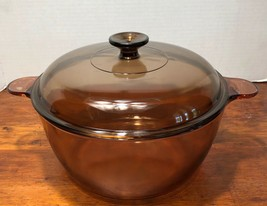Corning Vision-Ware Pyrex Amber 5 Qt 4.5L Dutch Oven Stock Pot Roaster W... - $34.00