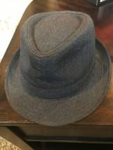 Stetson Gray Fedora, Size L/XL Herringbone Pattern - $11.00