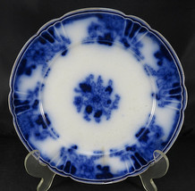 "Vintage Porcelain ENGLAND FLORAL White & Blue Small Desert Plate 8"" Diam... - $20.00"
