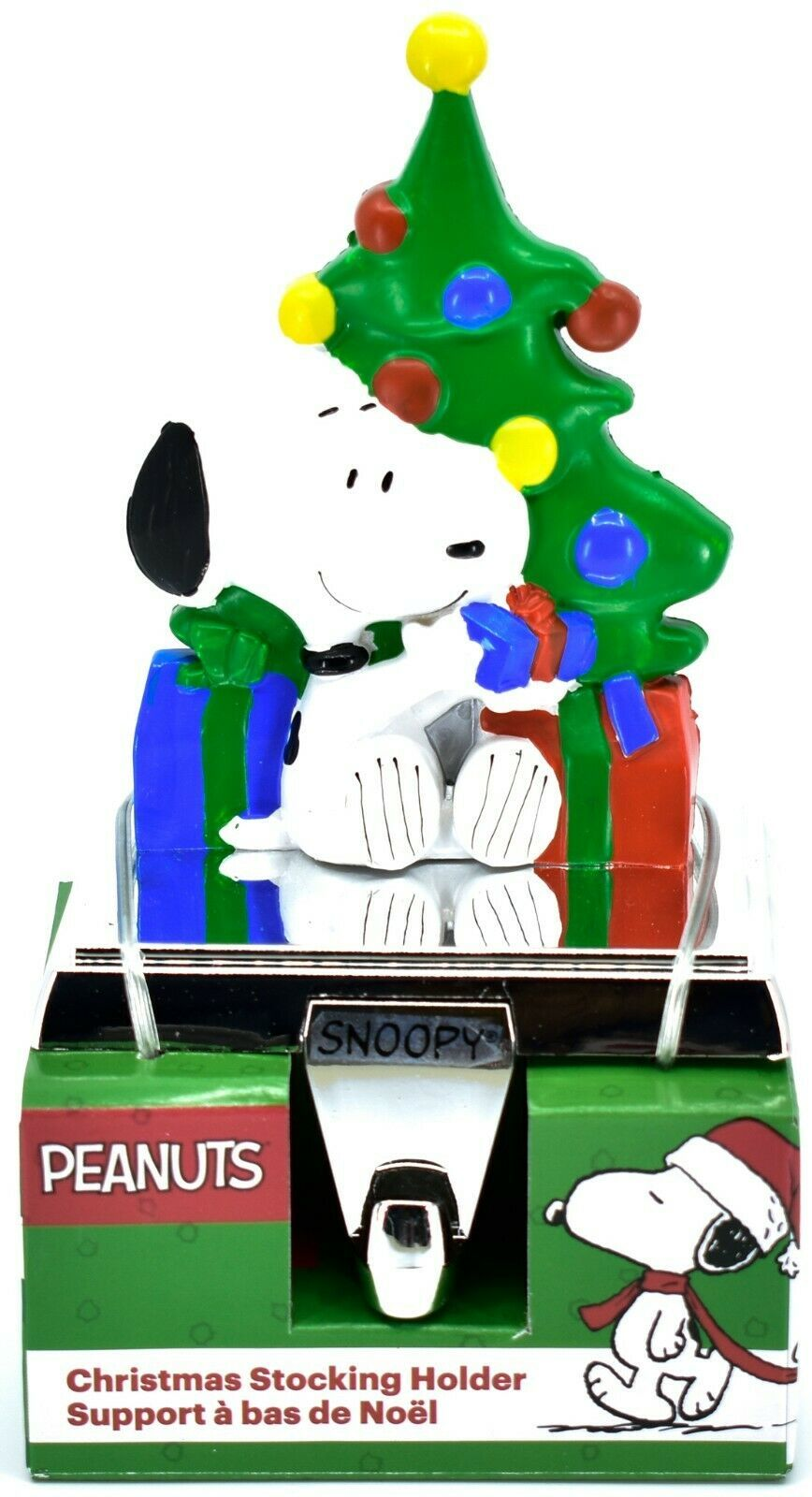 Kurt S Adler Peanuts Snoopy with Presents & Christmas Tree Stocking Holder