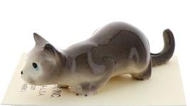 Hagen-Renaker Miniature Ceramic Cat Figurine Gray Cat Stalking image 2