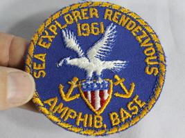 """Vintage Boy Scout 1961 Sea Explorer Rendezvous Amphibious Base Cloth 3 """"... - $14.95"""