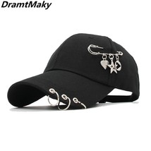 New fashion baseball cap with Iron ring for men women cap HAT Baseball c... - $11.69