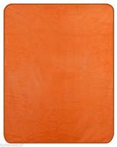 FULL / QUEEN SIZE SOLID COLOR HEAVY WEIGHT BED BEDROOM BLANKET ORANGE - $64.95