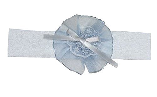 Beautiful Baby Girl Headband Big Flower Toddler Apparel Accessory Blue (1~2 Y)