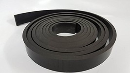 "Neoprene All Purpose Rubber Strip 1/4 .250"" Thick– Perfect For Gaskets, Liners,"