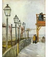 Hand Painted Oil Painting on Canvas - Montmartre in the upper Mill by Va... - $409.00