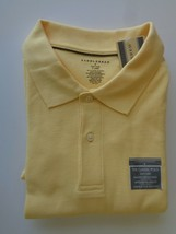 Saddlebred Polo Shirt XL Classic Cotton Blend Pique Knit  S/S  YELLOW - $12.19