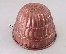 Antique Solid Copper Handmade Hand Hammered Turban Hat Food Aspic Puddin... - $38.26