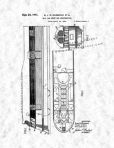 Rail Car Front End Construction Patent Print - Gunmetal - $7.95+