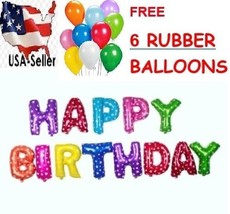 "III. 16"" HAPPY BIRTHDAY Foil Alphabet Letters Words Balloons+6xFree Balloon - $0.99+"