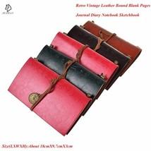 JESJELIU® Classic Retro Vintage Leather Bound Blank Pages Journal Diary ... - $9.46