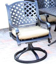 Patio dining set Cast Aluminum outdoor Nassau furniture 12 piece all weather image 3