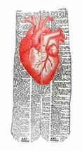 Art N Wordz Apparel Red Heart Anatomical Heart-Healthy Dictionary Art Un... - $24.99