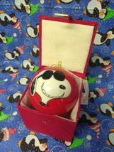 "PEANUTS SNOOPY RED Christmas ORNAMENT ""JOE COOL"" KURT ADLER  - $14.85"