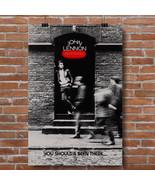 John Lennon, Rock 'n Roll promotional poster canvas print Beatles - $18.76