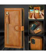 For Samsung Galaxy Note 20 Ultra Case Zipper Card Pocket PU Leather Wall... - $64.37