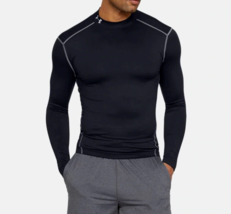 Under Armour Men's ColdGear Compression Mock Tee NEW AUTHENTIC Black 126... - $49.99