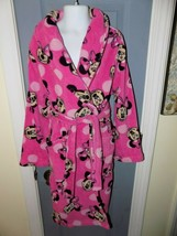 DISNEY MINNIE MOUSE PINK WITH POLKA DOTS HOODED ROBE SIZE 8 (M) GIRL'S EUC - $24.92
