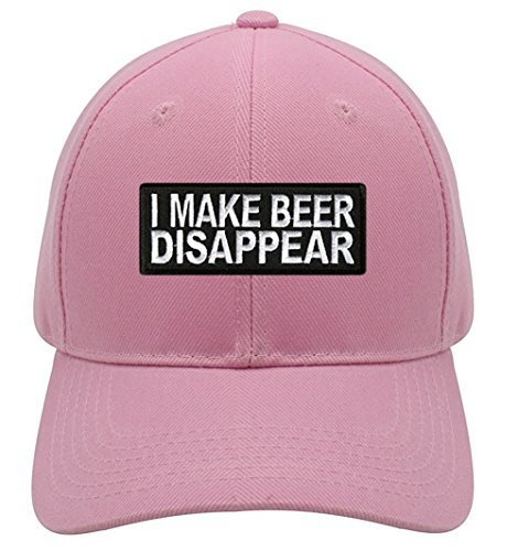 I Make Beer Disappear Hat - Pink Adjustable Womens - Funny Quote Drinking Cap