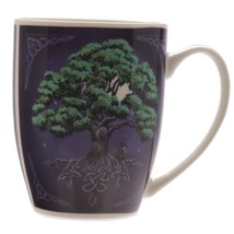 "4"" Tree of Life Colored New Bone China Porcelain Coffee Drinking Mug - $10.88"