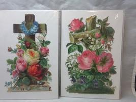 Victorian embossed die cuts. Christian Crosses & roses - $12.99