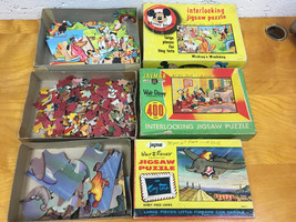 Vintage Jaymar Walt Disney Puzzle Lot, Mickey, Dumbo, Donald Duck, Complete! - $38.69