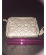 COACH GRAMERCY EMBOSSED OP ART SIGNATURE C Medium Zip Wallet ~RARE! - $80.00