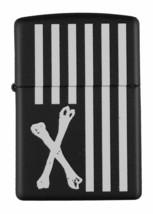 Dissizit! Los Angeles Schwarz Kreuz Knochen American Flagge Zippo Feuerzeug 2013